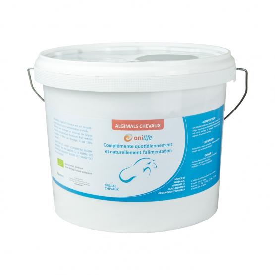 algues et produits naturels - Agrofertil-Algimals-Chevaux-6kg - algues chevaux