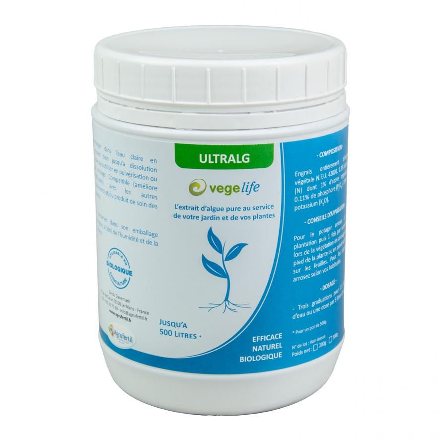 algues et produits naturels -biostimulant-Ultralg-500g Agrofertil
