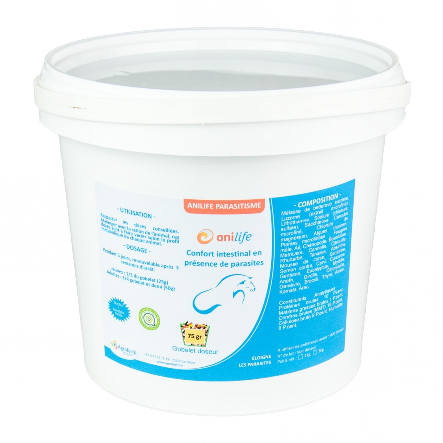 algues et produits naturels - Confort Intestinal - Anilife Confort Intestinal Chevaux 1kg