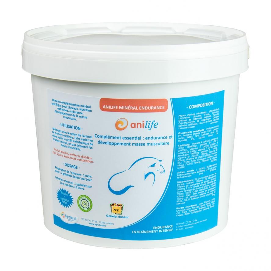 algues et produits naturels - Entraînement intensif Cheval - Anilife Minéral Endurance Chevaux 2kg